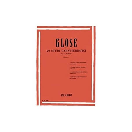 KLOSE' 20 Studi Caratteristici. per Clarinetto - vaiconlasigla; strumenti musicali; vaiconlasigla shop; vaiconlasigla st