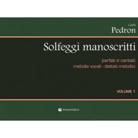 Carlo Pedron - Solfeggi manoscritti parlati e cantati. vol.1