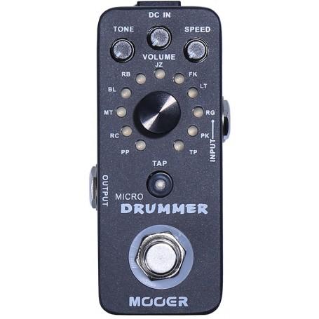 MOOER MICRO DRUMMER, Batteria elettronica digitale in formato pedale - vaiconlasigla; strumenti musicali; vaiconlasigla