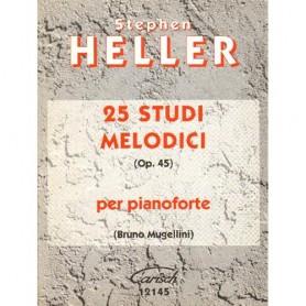 S. Heller: 25 Studi Melodici Op.45, per Pianoforte