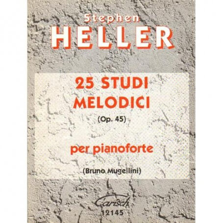 S. Heller: 25 Studi Melodici Op.45, per Pianoforte - vaiconlasigla; strumenti musicali; vaiconlasigla shop; vaiconlasigl