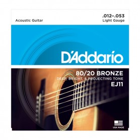D'ADDARIO EJ11 corde per chitarra acustica 12/53