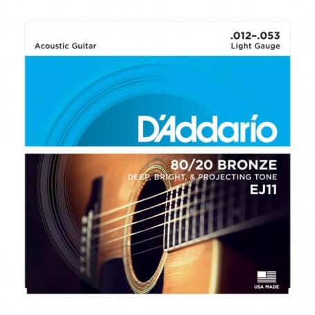 D\'ADDARIO EJ11 corde per chitarra acustica 12/53