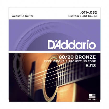 D\'ADDARIO EJ13 corde per chitarra acustica 11/52