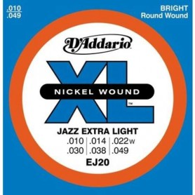 D'ADDARIO EJ20 JAZZ EXTRA LIGHT 010-049