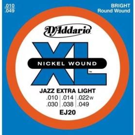 D'ADDARIO EJ20 JAZZ EXTRA LIGHT 010-049