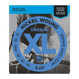 D'ADDARIO EJ21 JAZZ EXTRA LIGHT 12/52