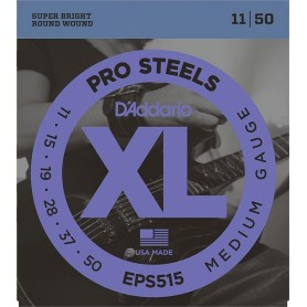 D'ADDARIO EPS515 PRO STEELS MEDIUM GAUGE 11/50 SET CORDE