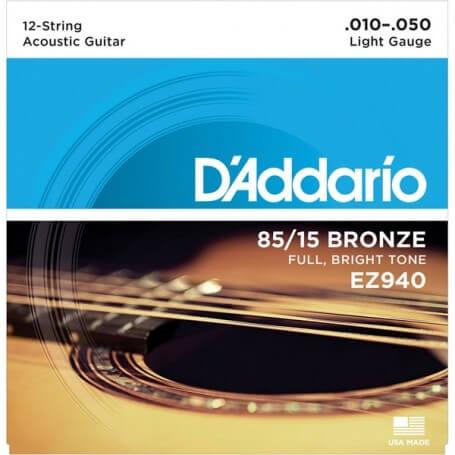 D'ADDARIO EZ940 10-50 MUTA PER CHITARRA ACUSTICA 12 CORDE - vaiconlasigla; strumenti musicali; vaiconlasigla shop; vaico