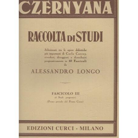 CZERNYANA RACCOLTA DI STUDI fascicolo 3 di A.Longo