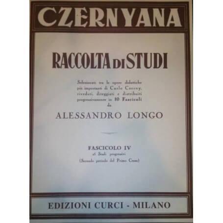 CZERNYANA RACCOLTA DI STUDI fascicolo IV di A.Longo - vaiconlasigla; strumenti musicali; vaiconlasigla shop; vaiconlasig