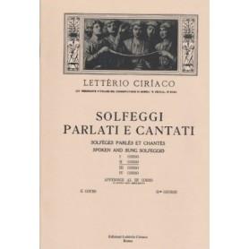 LETTERIO CIRIACO SOLFEGGI PARLATI E CANTATI II CORSO