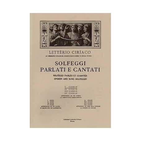 LETTERIO CIRIACO - ED9 - SOLFEGGI PARLATI E CANTATI I CORSO