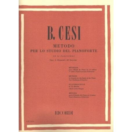 B. CESI- METODO PER LO STUDIO DEL PIANOFORTE FASCICOLO 1 - vaiconlasigla; strumenti musicali; vaiconlasigla shop; vaicon