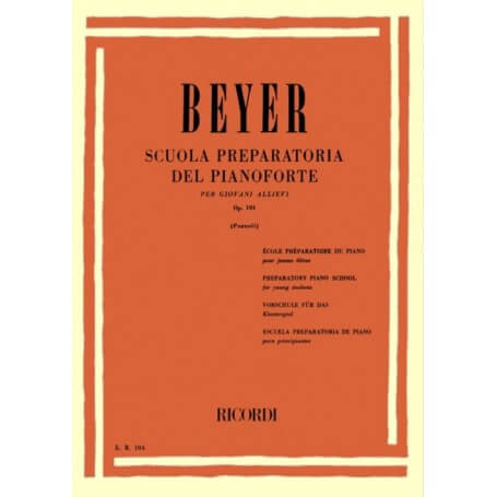 Beyer Scuola Preparatoria del Pianoforte op. 101 ed. Ricordi - vaiconlasigla; strumenti musicali; vaiconlasigla shop; va