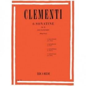 Clementi 6 Sonatine Op.36 per pianoforte revisione di Mugellini
