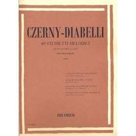 Czerny - Diabelli 40 studietti melodici per pianoforte a 4 mani ad uso dei principianti