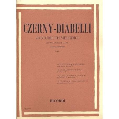 Czerny - Diabelli 40 studietti melodici per pianoforte a 4 mani ad uso dei principianti - vaiconlasigla; strumenti music