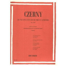 CZERNY 30 studi di meccanismo op 849 ed. Ricordi