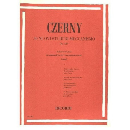 CZERNY 30 studi di meccanismo op 849 ed. Ricordi - vaiconlasigla; strumenti musicali; vaiconlasigla shop; vaiconlasigla
