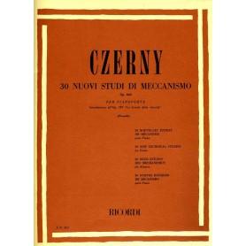 CZERNY- 30 Nuovi Studi Meccanismo Op.849