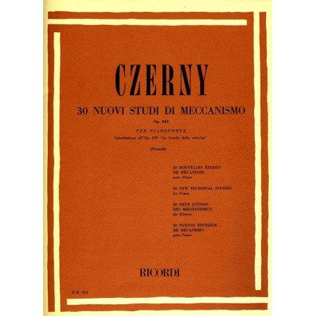 CZERNY- 30 Nuovi Studi Meccanismo Op.849 - vaiconlasigla; strumenti musicali; vaiconlasigla shop; vaiconlasigla strument
