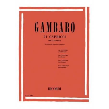 GAMBARO 21 CAPRICCI PER CLARINETTO - vaiconlasigla; strumenti musicali; vaiconlasigla shop; vaiconlasigla strumenti musi