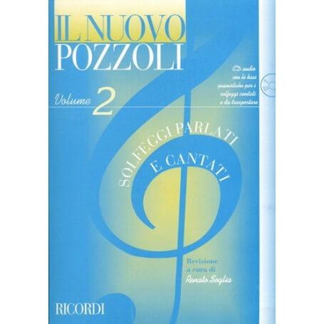 Il Nuovo Pozzoli vol.2 solfeggi parlati e cantati con cd audio - vaiconlasigla; strumenti musicali; vaiconlasigla shop;