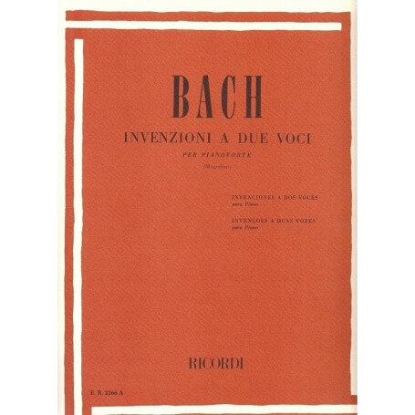 Invenzioni a Due Voci J.S.Bach ER2266A - vaiconlasigla; strumenti musicali; vaiconlasigla shop; vaiconlasigla strumenti