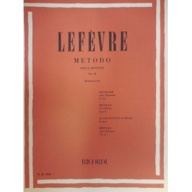 LEFEVRE METODO PER CLARINETTO VOL 2