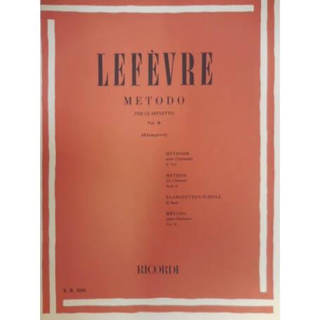 LEFEVRE METODO PER CLARINETTO VOL 2 - vaiconlasigla; strumenti musicali; vaiconlasigla shop; vaiconlasigla strumenti mus