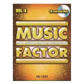 MUSIC FACTOR VOL. 4 CANTA E SUONA LA GRANDE MUSICA ITALIANA CON CD BASI MP3