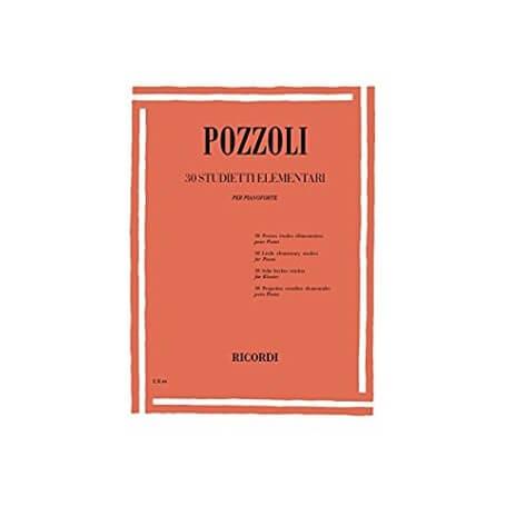Pozzoli 30 studietti elementari per pianoforte - vaiconlasigla; strumenti musicali; vaiconlasigla shop; vaiconlasigla st