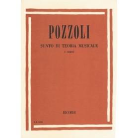 POZZOLI : SUNTO DI TEORIA MUSICALE I° CORSO