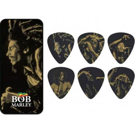 DUNLOP Bob Marley 'GOLD'  SERIE PICK TIN - vaiconlasigla; strumenti musicali; vaiconlasigla shop; vaiconlasigla strument