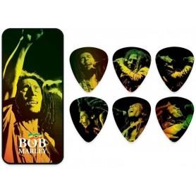 DUNLOP Bob Marley 'GOLD' Reggae SERIE PICK TIN