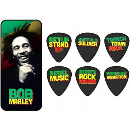 DUNLOP Bob Marley Pick Tin - 'Quotes' - vaiconlasigla; strumenti musicali; vaiconlasigla shop; vaiconlasigla strumenti m