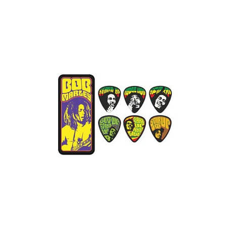 DUNLOP Guitar Picks Bob Marley Pick Tin BOBPT06M