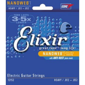 ELIXIR 12152 ELECTRIC GUITAR STRINGS 012-052