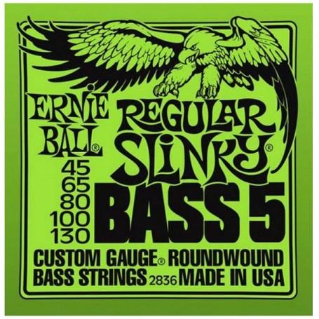 ERNIE BALL 2836 - REGULAR SLINKY BASS 5 corde - vaiconlasigla; strumenti musicali; vaiconlasigla shop; vaiconlasigla str