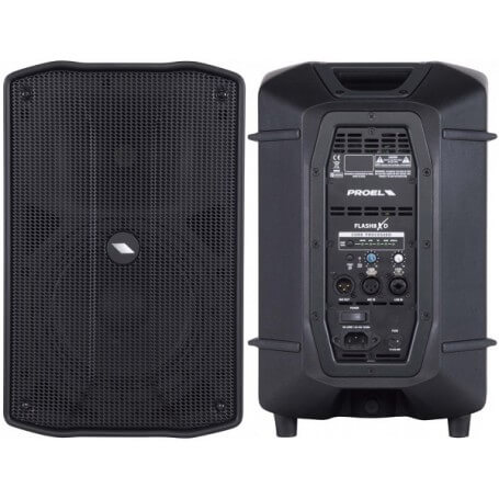 PROEL FLASH8XD Active processed 2-way loudspeaker system.