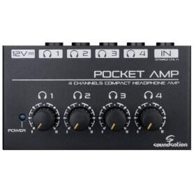 SOUNDSATION POCKET AMP  Mini Amplificatore per 4 Cuffie