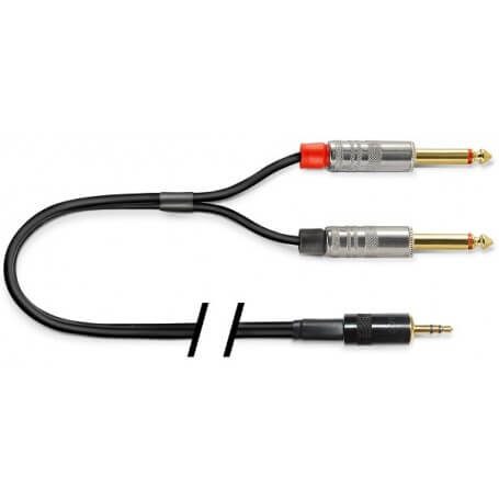 REFERENCE RICTS02-BK-JS3,5/JJ6,3-N/R-2M cavo collegamento uscita mini-jack - vaiconlasigla; strumenti musicali; vaiconla