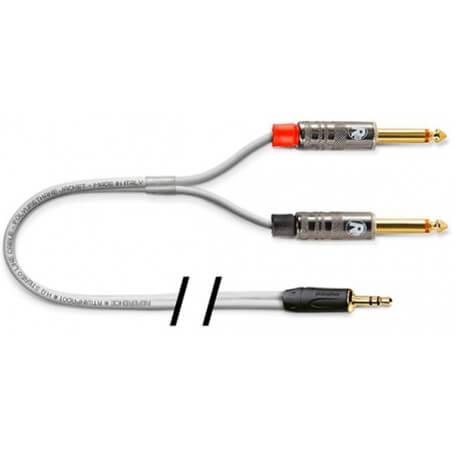 REFERENCE RTWINPAD-WH-JS3-5/2JTS-R-2mt cavo collegamento uscita mini-jack - vaiconlasigla; strumenti musicali; vaiconlas