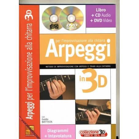 ARPEGGI PER L'IMPROVVISAZIONE ALLA CHITARRA IN 3D - vaiconlasigla; strumenti musicali; vaiconlasigla shop; vaiconlasigla