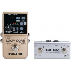 NUX LOOP CORE DELUXE BUNDLE LOOP CORE DELUXE + NMP2 DUAL FOOTSWITCH