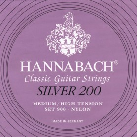 HANNABACH Silver 200 - Medium High Tension, Bass Set