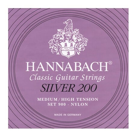 HANNABACH Silver 200 - Medium High Tension, Bass Set - vaiconlasigla; strumenti musicali; vaiconlasigla shop; vaiconlasi