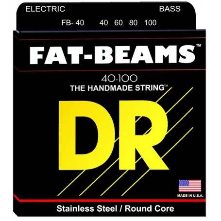 DR Strings FB40 Corde Fat Beams 40-100 - vaiconlasigla; strumenti musicali; vaiconlasigla shop; vaiconlasigla strumenti