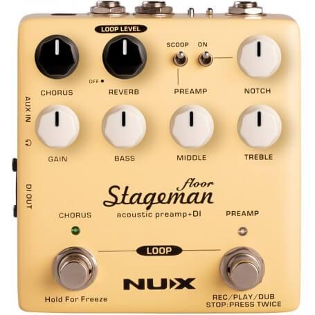NUX STAGEMAN FLOOR Stageman Floor Acoustic Preamp & DI + looper - vaiconlasigla; strumenti musicali; vaiconlasigla shop;